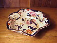 VINTAGE MASON'S MANDALAY IRONSTONE -BLUE MULTICOLOR- RUFFLED EDGES SERVING BOWL