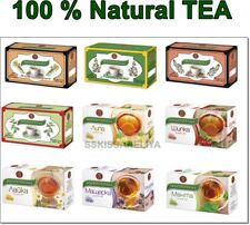 100 % Natural Tea by BIOPROGRAMA 20 bags x 2g  Thyme Melissa Linden Mint Rosehip