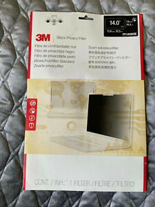 "3M Black Privacy Screen Filter 14"" 17.4 cm x 31.0 cm NEW"