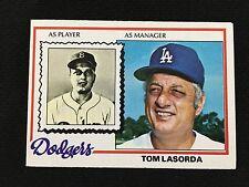 LOS ANGELES DODGERS TOMMY LASORDA 1978 TOPPS VINTAGE MANAGER BASEBALL CARD