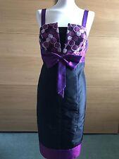 Black and purple dress