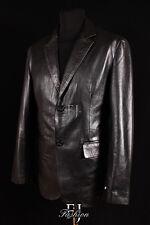 Chaqueta/blazer de hombre en color principal negro de piel