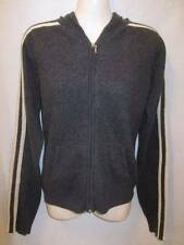 Juicy Couture 100% Cashmere Gray Zip Front Hooded Jacket M