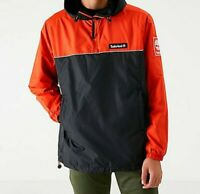 Mens Timberland Pullover Windbreaker Jacket Black/Orange TB0A1WX3-W44 Sz XXL 2XL