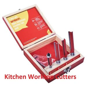 Kitchen Joiners Worktop Counters Router bits Cutter Set 1/4 Quarter Half Inch Uk