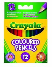 Crayola Mezza Lunghezza Matite Colorate - Corto, 12-Pack