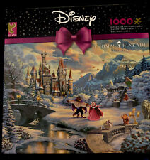 Thomas Kinkade Beauty and the Beast's Winter Enchantment 1000 Ceaco Puzzle NEW