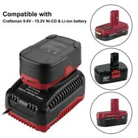 Battery Charger for Craftsman Diehard C3 9.6-19.2V Ni-Cd & Lithium-Ion Battery
