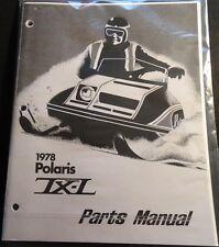 1978 Polaris Snowmobile Tx-L Parts Manual Copy P/N 9910520