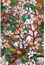 Window Film Magnolia Decorative 24 x 36 in. Stained Glass Bathroom Privacy New
