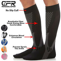 Foot Plantar Fasciitis Arch Support Compression Socks Ankle Heel Brace Copper P3