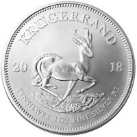 Silver Krugerrand Coin South African Mint 1 oz 2018