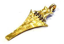Bijou Biche de Bere pendentif étain doré pendant