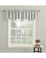 "Scrolling Weave Jacquard Scalloped Window Valance, Gray, Modern 52"" x 18""  - NEW"