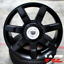 "22"" CA80 Style Wheels Satin Black Rims Fits Cadillac Escalade ESV EXT Platinum"