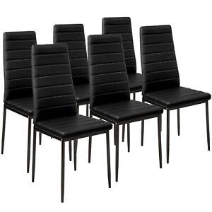 Set di 6 sedia per sala da pranzo tavolo cucina eleganti moderne robusto nero