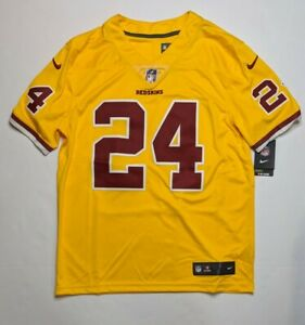 Josh Norman Washington Redskins Official Stitched Nike Away Jersey Yellow Sz L