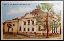 Postcard - St. Paul Methodist Church Pueblo Colo.