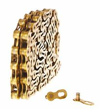 KMC X9SLi Gold Chain 9 Speed 116 Links Super Light NEW US