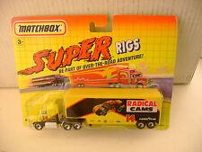 1992 MATCHBOX SUPER RIGS RADICAL CAMS FORD AEROMAX TRUCK & TRAILER NEW MOC