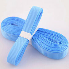 "5yds 3/8"" (10 mm) Blue Solid Christmas Grosgrain Ribbon Hair Bows Ribbion!"