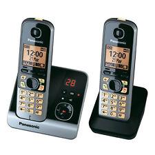 Panasonic KX-TG 6722 GB Schnurlostelefon mit Anrufbeantworter schwarz