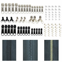 84PCS / SET KIT DE REPARATION POUR ZIPPES DE REMPLACEMENT METAL ZIP SLIDER