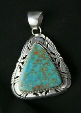 Royston Turquoise Pendant Sterling Silver .925 Custom Handmade Natural Signed
