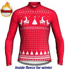 Winter Thermal Cycling Jersey Christmas Bike Shirt Bicycle Warm Clothing Jacket