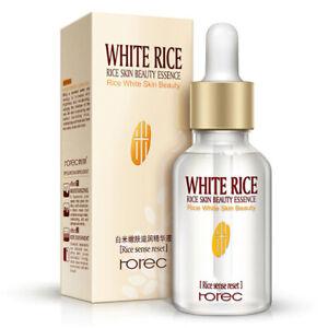 ROREC Face Serum Collagen White Rice Hyaluronic Acid Essence Shrink Oil Control