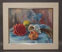 Ruth Dolmetsch (1918-2000 Stuttgart) - Rose Schnecke Granatapfel 1500,- (D121)