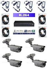Überwachungsanlage Videoüberwachung Komplettset wetterfest Internetzugriff IR