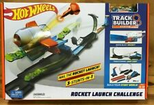 Hot Wheels Track Builder System Nail the Rocket Launch Set Playset W/ Vehicle