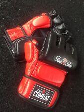 Guanti in Pelle MMA UFC Combattere Sparring Punch Grappling Bag formazione Uomini Kids W