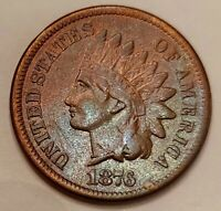 1876 Indian Head Cent Grading Nice XF Coin Priced Right Shipped FREE  i12