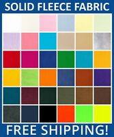 """Solid Fleece Fabric - 60"""" Wide - Sold By The Yard - Free Shipping"""