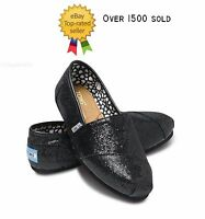 TOM'S BLACK GLITTER. BRAND NEW WITH TAG. ALL SIZES