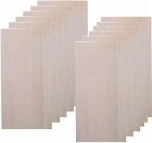 12 Pack Balsa Wood Sheet for CraftsThin Wood Sheets for Plane Craft and Schoo...