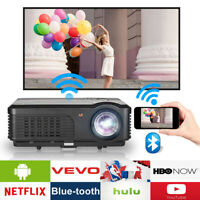 LED HD Projektor 1080P Android 6.0 Video Beamer WIFI Heimkino HDMI Blue tooth DE