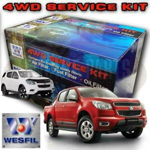 Wesfil 4x4 Air Oil Fuel Filter Kit Holden RG Colorado & Colorado 7 2012 - Onward