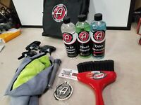ADAM'S POLISHES LOT Eco Odor Glass Cleaner Towels bag