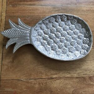Silver Coloured Pineapple Shaped Serving Platter