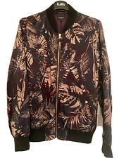 Paul Smith PS Acid Leaf Print Brown Bomber Jacket