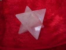 merkabah carving rose quartz 80 mm point to point