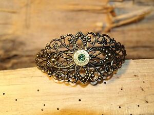 "Handmade Antique Gold ""38 Special"" Bullet Cuff Bracelet w/Brass 38's  B-411"