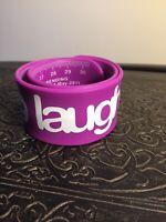 """Slap Snap Bracelet Ruler Laugh Smiley Faces Purple 12"""""""