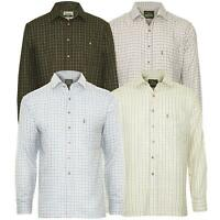 Mens Long Sleeve Shirts Casual Checked Collared Designer Classic Fit Size M -3XL