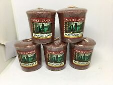 Yankee Candle 5x Mountain Lodge 49g Votives USA EXCLUSIVE VERY RARE