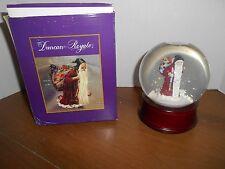 "Duncan Royale Santa Snow Globe Musical plays Silent Night 6"" Tall Holiday"