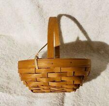 Longaberger 2016 Whatnots Booking basket & prot Solid Warm Brown Nih